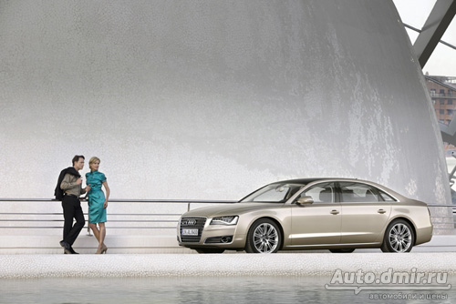 Audi A8 Long с пакетом Audi design selection balaobraun